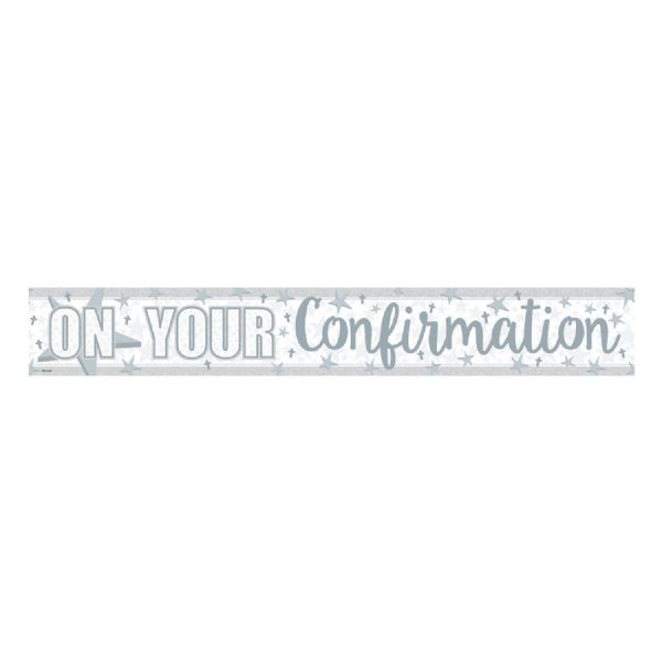 On Your Confirmation Holographic Banner